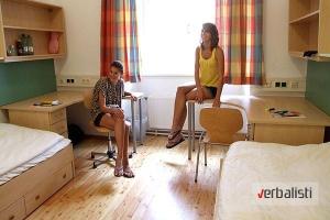 Izgled sobe na kampusu, letnja skola nemackog (12-17) u Becu
