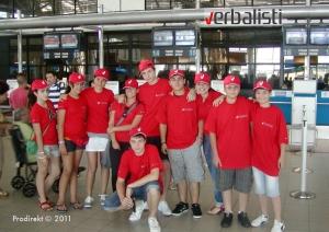 Verbalisti na aerodromu pred polazak na Maltu