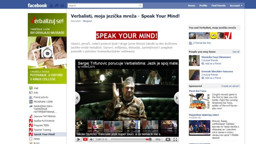 Verbalisti Speak Your Mind!