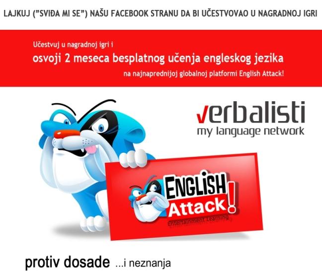 Učestvuj u nagradnoj igri i možda baš ti osvojiš 2 meseca besplatnog online kursa engleskog jezika