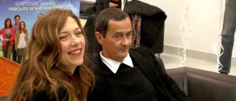 Glumica Branka Katic i reditelj Dzulijan Farino sa jezickom mrezom Verbalisti