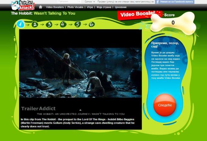 Online engleski, The Hobbit