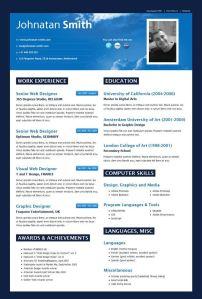 Primer jednog dobrog CV za dizajnera (klikni na foto za uvećan prikaz)