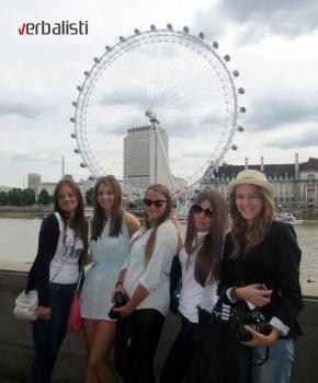 Polaznice jezicke mreze Verbalisti u Londonu, 2013