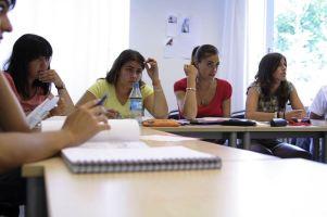 Verbalisti na času nemačkog u školi GLS
