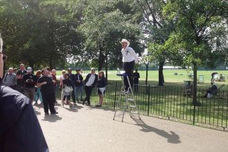 again at Speakers Corner