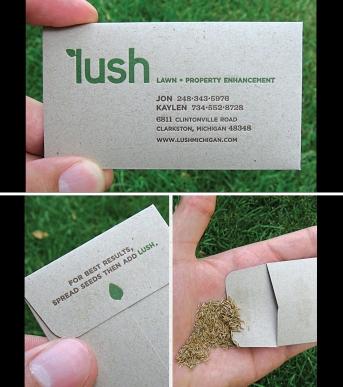 Najbolje vizit karte - vizitka bastovana u kojoj cete naci seme za travu