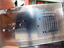 Vizit karta Stevea Wozniaka, suosnivaca Apple-a