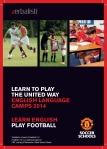Brosura jezicke mreze Verbalisti za fudbalski i jezicki kamp Manchester United