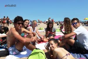 Ekskurzija i polaznici na plazi, Coney Island
