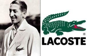 Rene Lakost i logo Lacoste