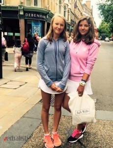 Mila Ivanov and Nika Erzen in Oxford