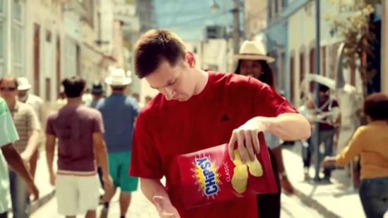 Leo Mesi reklamira Chipsy u Brazilu