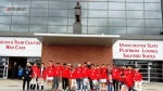 One of the spring 2014 Man Utd soccer schools groups have arrived at Old Trafford