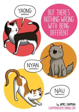 Cats sounds in different languages