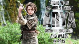 187 girls named Arya