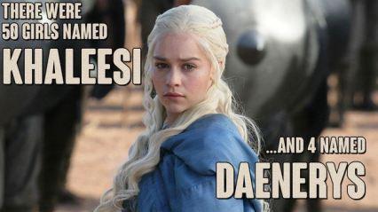 50 girls named Khaleesi