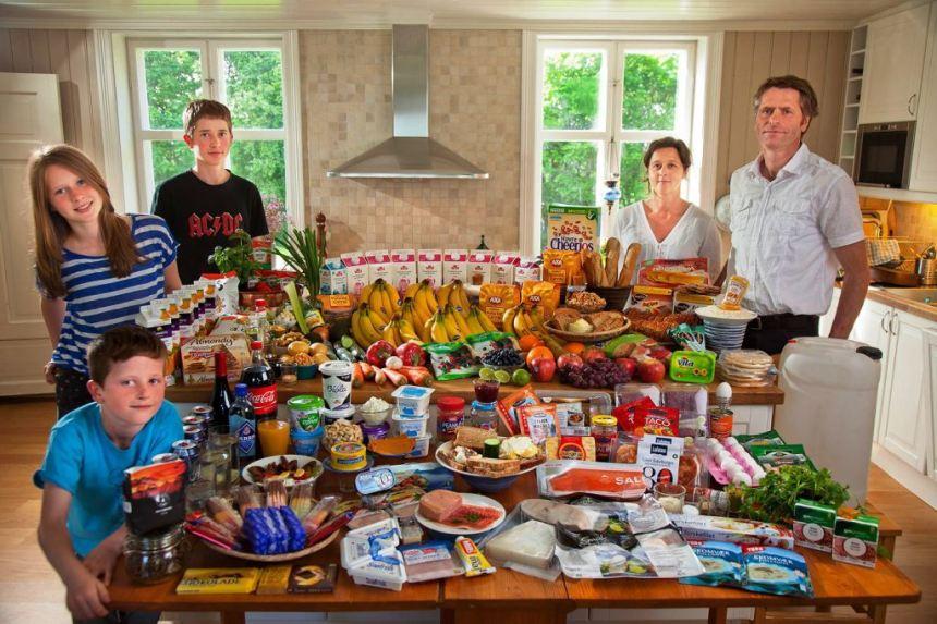 Trpeza norveske porodice