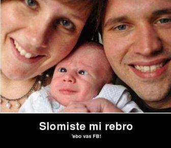 Facebook slika i beba