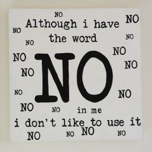 Saying no in English