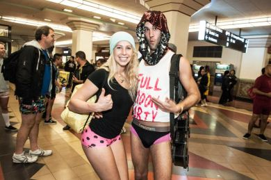 No Pants Subway Ride in Los Angeles