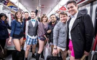 No Pants Subway Ride in Toronto