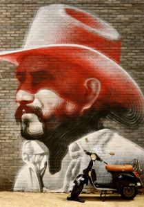 Street art in East End, London