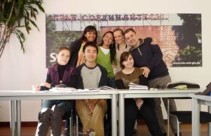 Young group of verbalists at the end of the course