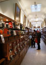 Interior of the Twinings Strand Heritage Shop, London