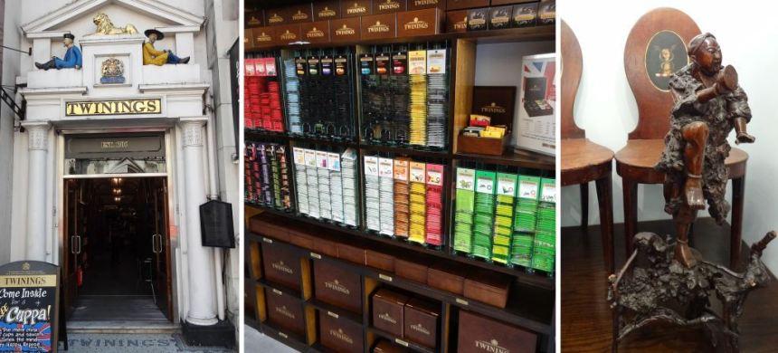 Twinings tea shop in London