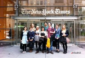 Ispred izdavacke kuce New York Times