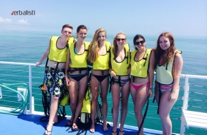 Krstarenje brodom i kupanje, program active MIAMI 2014, Verbalisti