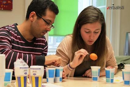 Studenti nemackog jezika u Becu za vreme Uskrsa, Verbalisti u skoli ActiLingua
