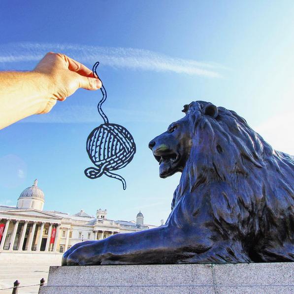 The lions at Trafalgar