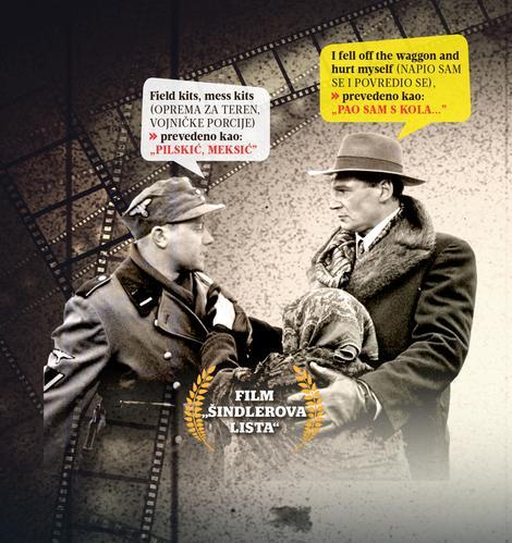 Greske u prevodjenju, film Sindlerova lista, Verbalisti