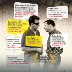 Prevodilacki biseri i greske, serija Dva i po muškarca, Verbalisti