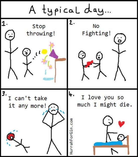 Tipičan dan jednog roditelja