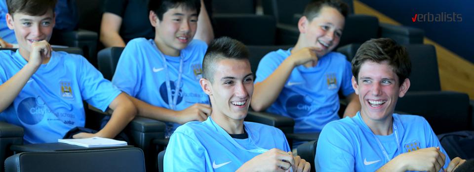 Fudbalski kamp za decu uzrasta 7-17 godina, Manchester City, Verbalisti