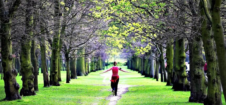Spring run through Regent's Park