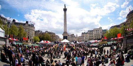 Feast of St George na Trafalgar trgu