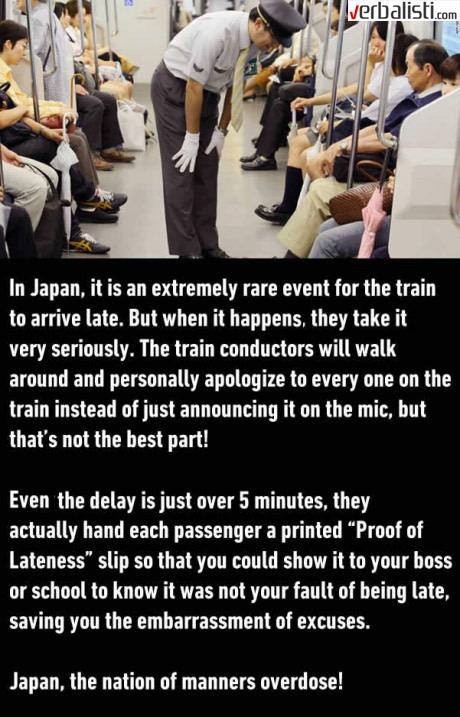 Japanska kultura i vozovi, Verbalisti