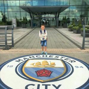 Andrija Stoimenov, polaznik škole fudbala Manchester City