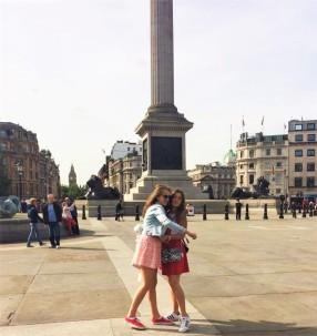 Anja i Dejana, Trafalgar skver, London