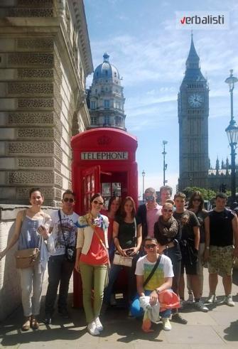 Polaznici jezičke mreže Verbalisti u Londonu