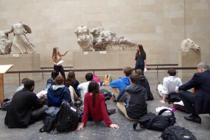 Prezentacija u Britanskom muzeju, polaznici jezicke mreze Verbalisti
